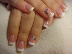 pretty natural, french manicure for my wedding nails :)