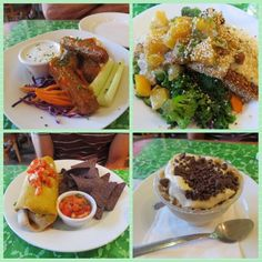 Holy #vegan I want everything on the menu at #goodkarmacafe in #redbanknj #spicy #bbqwings #coconut crusted #tempeh #veggieburrito #tiramisu #somanychoices #eatclean #eatplants #vegansofig #vegetarian #whatveganseat #vegucated #healthyeating #dinner #downtheshore cant wait to go again!