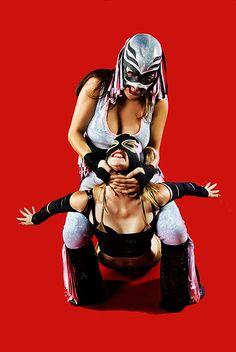 Lady Luchadors pretty cool masks