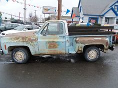 Truck with perfect patina.