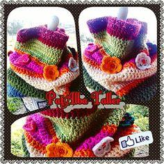 Gran cuello tejido a crochet con alegres colores para el frío con flores de colores ❄⛅✌ #PatAlbaTaller #diseñodeautor #emprendedora #tejidos #crochet #artesana #handmade #diseñodeautor #regalounico