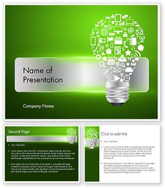 Creative Light Bulb with Icons PowerPoint Template: Powerpoint Template Free, Creative Background, Primary Music, Business Intelligence, Online Library, Presentation Design, Company Names, Light Bulb, Templates