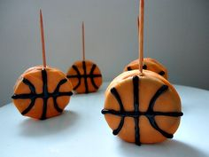Basketball Cookie On A Toothpick Fun Food