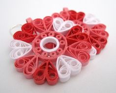 CLEARANCE Paper Quilled Earrings Sophie in Burning by QuillyNilly, $13.50