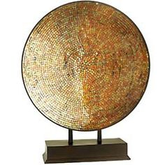Golden Mosaic Platter lauren-s-house-beautiful-hsn-dream-room