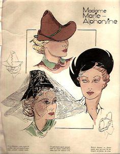 1930's hat pattern