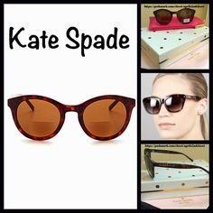 KATE SPADE Sun Glasses Readers Round Sunnies NEW WITH TAGS   KATE SPADE Sun Glasses Readers Round Sunnies   * Lens color: Solid Brown.  * Style: Round sun readers; 1.50 strength.   * One size fits most; 49-22-135mm (eye-bridge temple).  * UV protection: 100% * Signature pink & gold glasses case included.  Material: Plastic frame & composite frame. Color: Tortoise   No Trades ✅ Offers Considered*/Bundle Discounts✅ *Please use the 'offer' button to submit your best offer. kate spade…