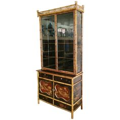 19th Century English Chinoiserie Cabinet | From a unique collection of antique and modern cabinets at https://www.1stdibs.com/furniture/storage-case-pieces/cabinets/