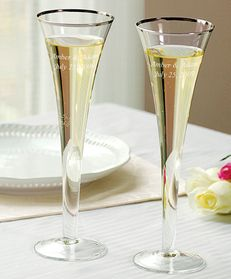 Cathys Concepts 7293 Trumpet Wedding Toasting Flutes   #wedding