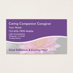 Caregiver Business Cards Zazzle