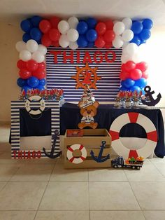 Baby shower ideas for boys sailor theme parties super ideas Baby shower idea Sailor Birthday, Sailor Party, Sailor Theme, Baby Birthday, Birthday Cake, Sailor Baby Showers, Baby Boy Shower, Navy Baby Showers, Deco Theme Marin