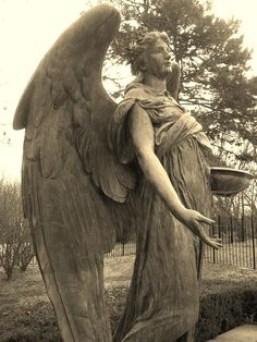 ☫ Angelic ☫ winged cemetery angels and zen statuary - Council Bluffs, Iowa - Celestial Reflections Photography Cemetery Angels, Cemetery Statues, Cemetery Art, Angels Among Us, Angels And Demons, Statue Ange, I Believe In Angels, Reflection Photography, Black Angels