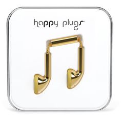 HAPPY PLUGS Earbuds ($30) ❤ liked on Polyvore featuring accessories, tech accessories, gold, happy plugs and earphones earbuds