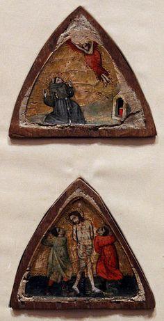 Maestro del Dittico Poldi Pezzoli (Scuola umbra) - Stimmate di San Francesco e Flagellazione - 1310-1320 circa - Museo Poldi Pezzoli, Milano