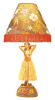 Hula girl figural table lamp with dancing motionsmost as so cheesy its cool aloadofball Choice Image