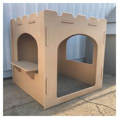 Castle Cubby House for indoors - indoor play room, wooden cubby house, castle cubby Furniture Logo, Retro Furniture, Kids Furniture, Luxury Furniture, Bedroom Furniture, Furniture Design, Wooden Fort, Wooden Castle, Cardboard Castle