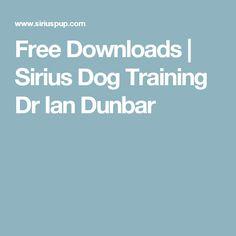Free Downloads | Sirius Dog Training Dr Ian Dunbar