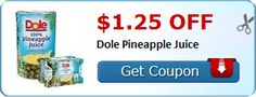 New Coupon!  $1.25 off Dole Pineapple Juice - http://www.stacyssavings.com/new-coupon-1-25-off-dole-pineapple-juice/