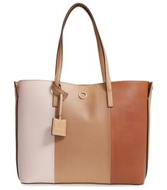 elay leather shoulder tote by Louise et Cie. Slim over-the-shoulder handles top a roomy, lightly structured tote cut from pebbled leather and detailed with gleami...