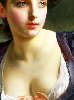 A Court Beauty,detail.Gustave Jean Jacquet (French, 1846-1909)