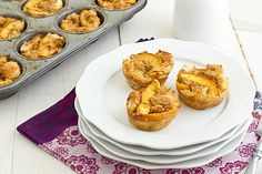 This recipe looks really simple and they look so yummy! Brown Sugar Peach French Toast Cups.