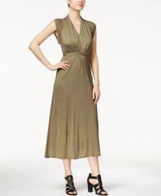 kensie Cap-Sleeve Maxi Dress