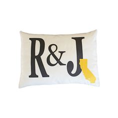 custom initial pillow with state applique