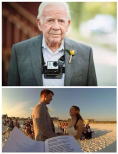 The officiant wore a GoPro during the wedding