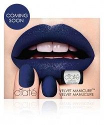 Velvet Manicure Set - Blue Suede  The Velvet Manicure was inspired by Ciate Creative Director Charlotte Knight whilst experimenting with luxurious textures and finishes, aiming to achieve true exuberance and sophistication. When the polish dries you're left with soft-to-the-touch nails that look as though they're wearing a fuzzy cashmere jumper #beauty #nails