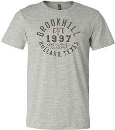 48ab1d7114d Heathered Gray - Vintage School Spirit T-Shirt Design - Private School Tee