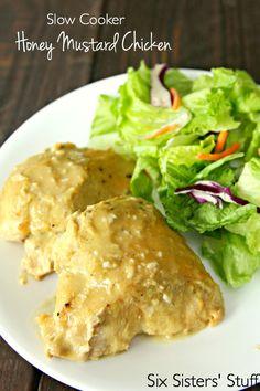 Slow Cooker Honey Mustard Chicken Recipe on MyRecipeMagic.com