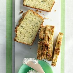 Savory Zucchini Parmesan Loaf. This bread is delicious on its own, or spread with creamy ricotta cheese. Try toasting the slices.