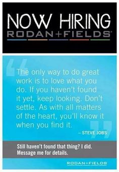 I am looking for new business partners. We offer residual income, no inventory, no parties, no deliveries, no paperwork, work anytime and anywhere, and you are partnering with the world renowned doctors who created billion dollar success with Proactiv.