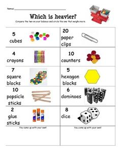 Pan Balance Center Activity$, this link takes you to TPT $4.  Great Ideas though.