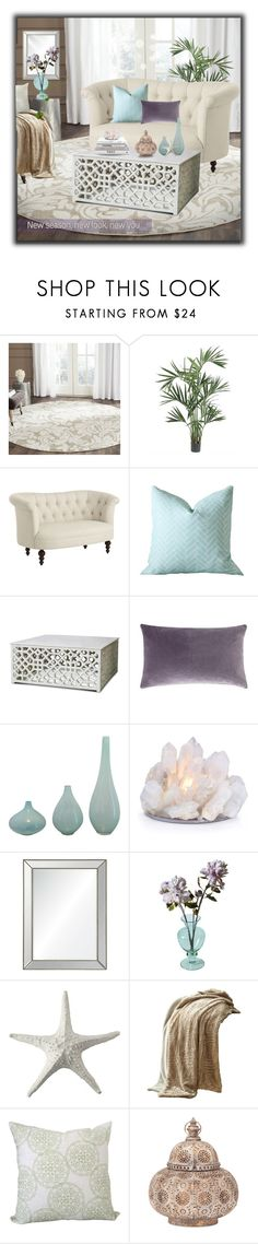 """""""~ Summertime Elegance ~"""" by romantiquechic ❤ liked on Polyvore featuring interior, interiors, interior design, home, home decor, interior decorating, Safavieh, Nearly Natural, Pier 1 Imports and Barclay Butera"""