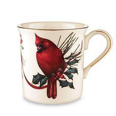 Lenox Winter Greetings Cardinal Mug, 2015 Amazon Top Rated Napkin Rings #Kitchen