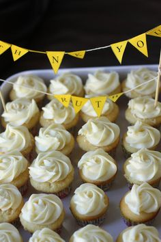 Lemon Cupcakes with Lemon Cream Cheese Frosting by weekofmenus: Bittersweet. #Cupcakes #Lemon