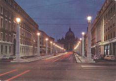 Roma (RM) - Via della Conciliazione e S. Pietro / Reconciliation Street and St. Peter's  Plurigraf (Terni) - Da fotocolor Kodak Ektachrome