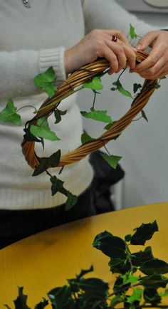 Willow Crafts for Christmas with Ways with Willow #Cornwall. Learn how to make several small willow decorations, including stars, wreaths, hearts and trees.
