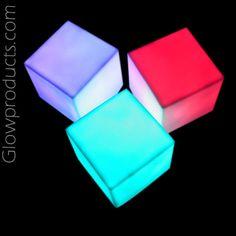 Light Up LED Cube Lamps - Battery Operated http://glowproducts.com/ledcandleproducts/ledlampsquare/