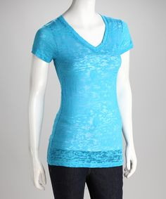 This Turquoise Burnout Tee by Sweet Girl is perfect! #zulilyfinds T4 icy