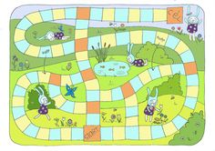 Free printable Easter board game on Behance