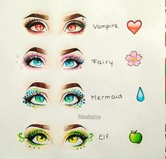 These would be so pretty as makeup looks. As a Pisces, of course I'm very drawn to the mermaid one.