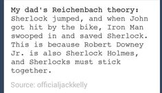 I like it. That or sherlock turned into smaug and simply flew away.