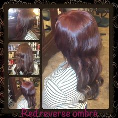 Red Reverse Ombre Hair