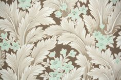 1950s Vintage Wallpaper by the Yard  Mint by HannahsTreasures