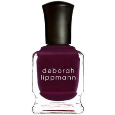 Deborah Lippmann Nail Lacquer - Miss Independent  - Colour Purple (341.360 IDR) ❤ liked on Polyvore featuring beauty products, nail care, nail polish, nails, beauty, makeup, cosmetics, filler, deborah lippmann and deborah lippmann nail polish