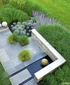 It's the time of year when we turn our decorating eye outdoors. Whether you have an intimate terrace or a vast backyard, take inspiration from these classic garden looks to make the most of the warmer months. Modern Landscape Design, Modern Garden Design, Garden Landscape Design, Modern Landscaping, Backyard Landscaping, Contemporary Landscape, Landscaping Ideas, Small Gardens, Outdoor Gardens
