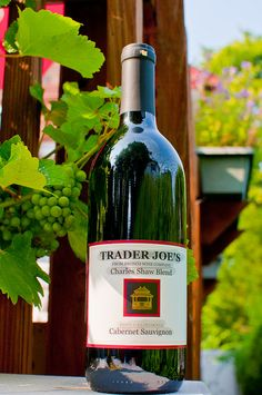 Trader Joe's Charles Shaw Blend Cabernet Sauvignon. Reminds me of my old roomies @Emily Aimone and Mary Catherine!
