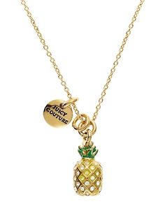 Juicy Couture Pineapple Mini Wish Necklace